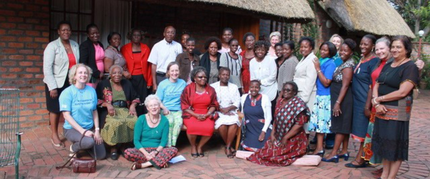 Large group of people pictured in Zimbabwe