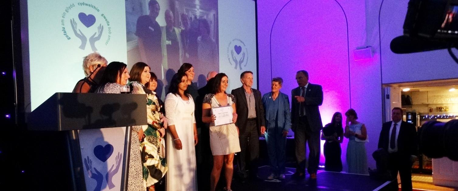 Ward 12 staff from Singleton Hospital get a special award