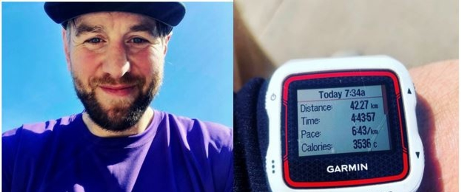 An image of ex Wales Rugby Captain Ryan Jones and his watch after his previous challenge