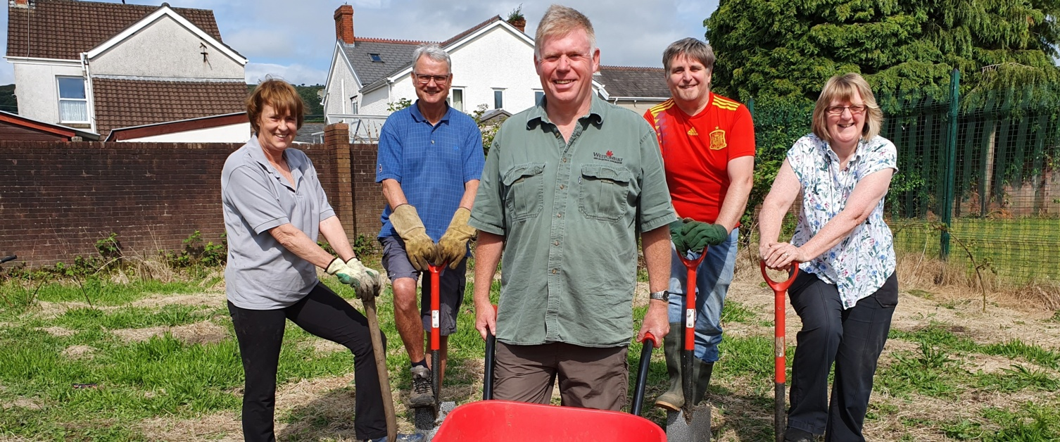 Members of the Clydach Community Garden
