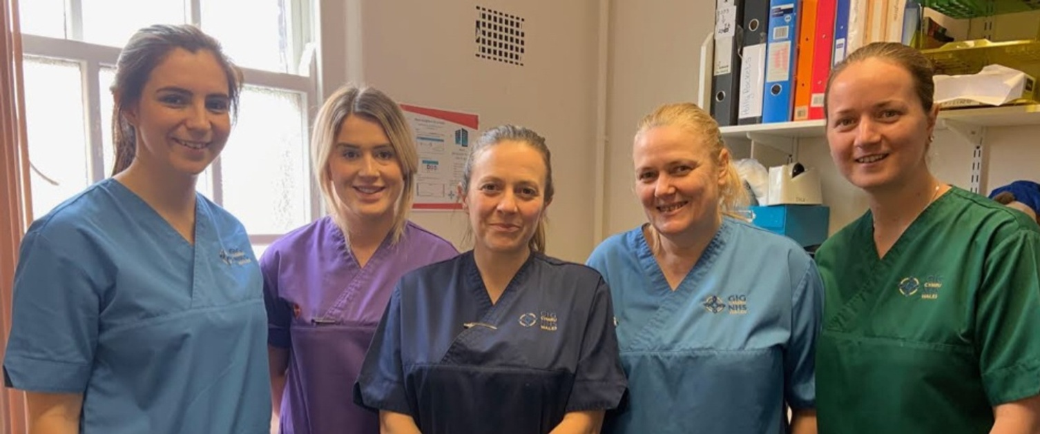 A team of community nurses working in Swansea