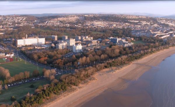 Aerial shot of Singleton Hospital