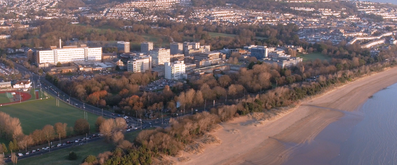 Aerial shot of Singleton Hospital