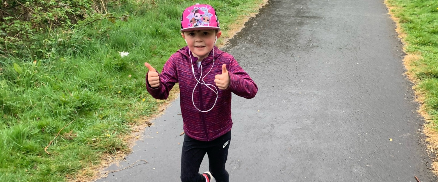 Penny Seager-Davies, a young girl running 5K to raise money for the NHS