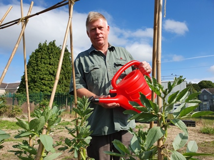 Garden leader Neil Barry