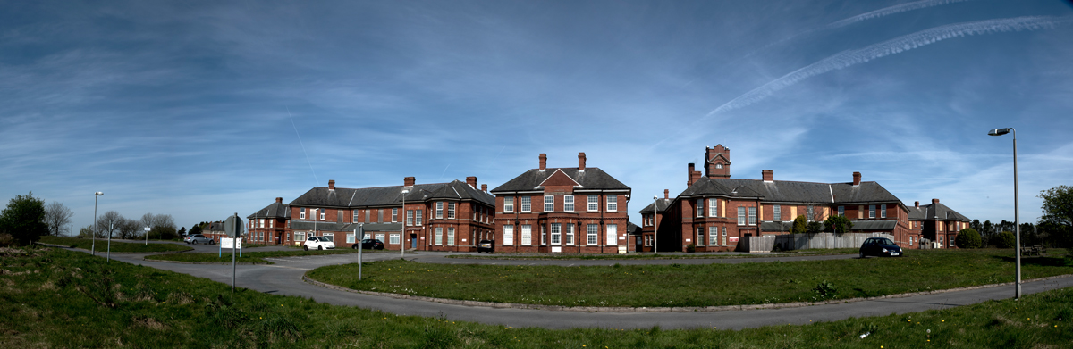 A picture of the disused Cefn Coed Hospital