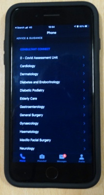 Phone displaying Consultant Connect