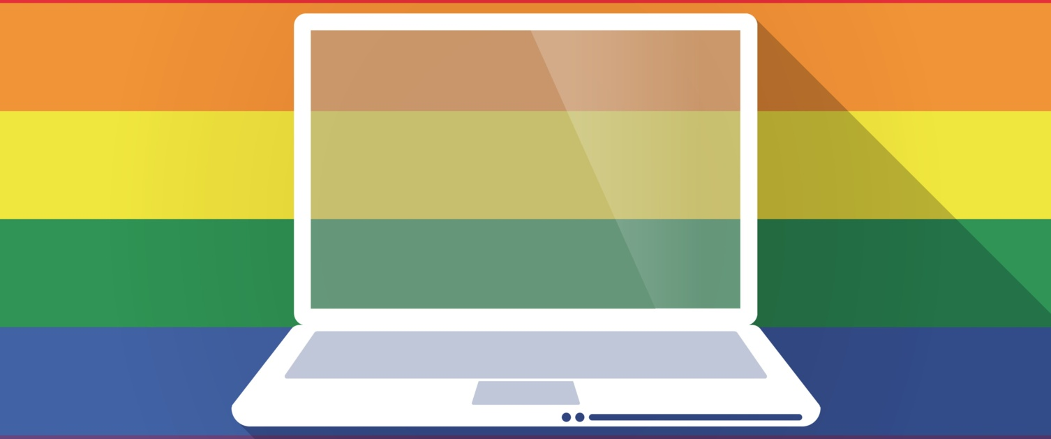 Rainbow Image with a Laptop Icon