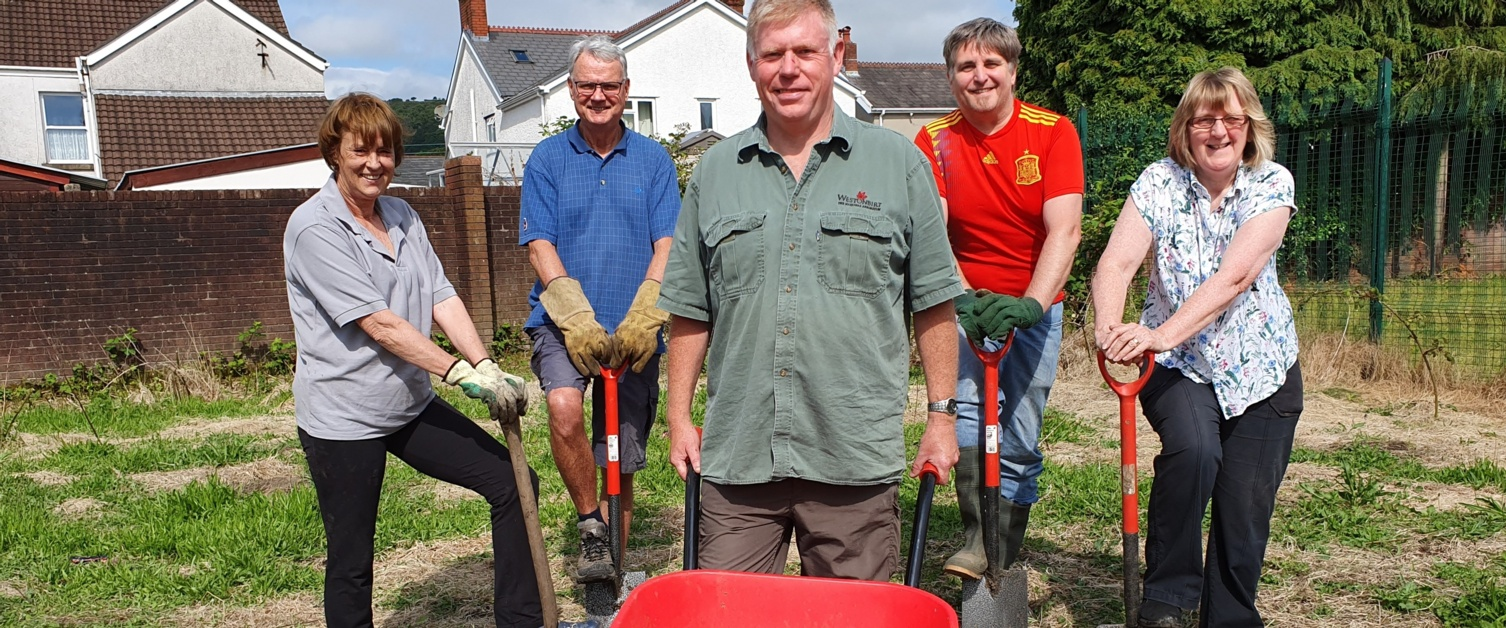 A new garden in the lower Swansea Valley is helping to grow community spirit