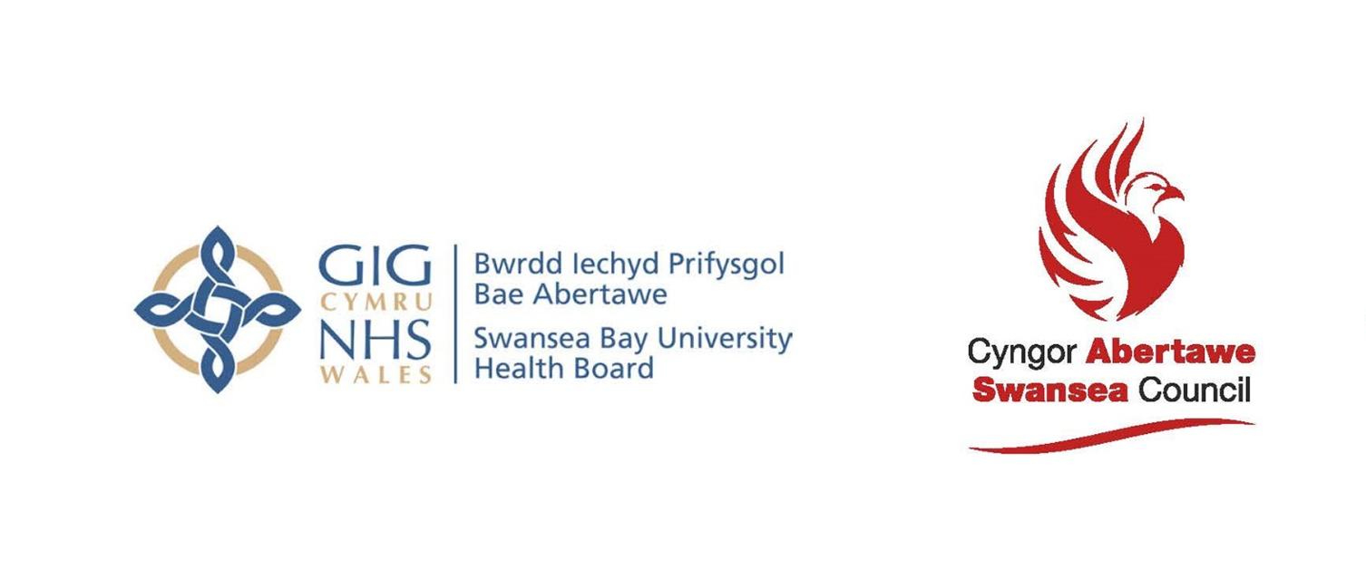 Swansea Bay University Health Board and Swansea Council logos