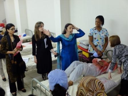 Dominique on a previous trip to Bangladesh