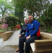 Paul Murray and Mark Bamford try out the new seating