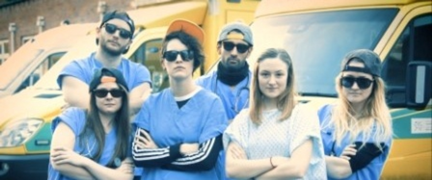 A group of medical students who have created a medical rap video