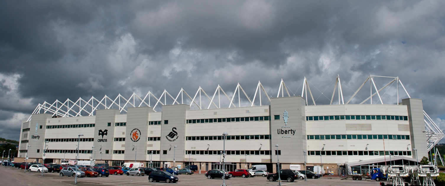 The exterior of the Liberty Stadium.