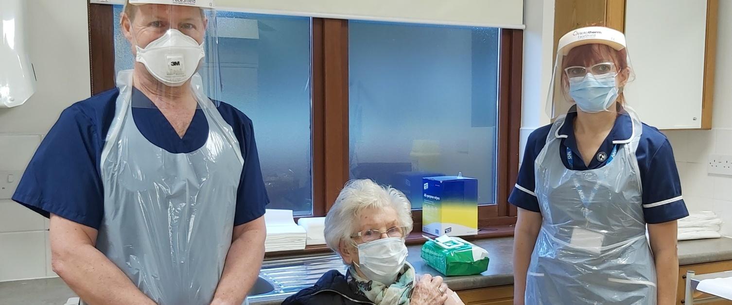 Dr Chris Johns with patient