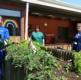 Nursing staff in the garden
