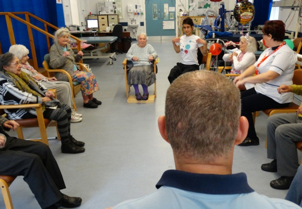 The strength and balance class at Gorseinon Hospital