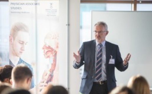 Course director Dr Wyn Harris - Medical School's recent PA careers event