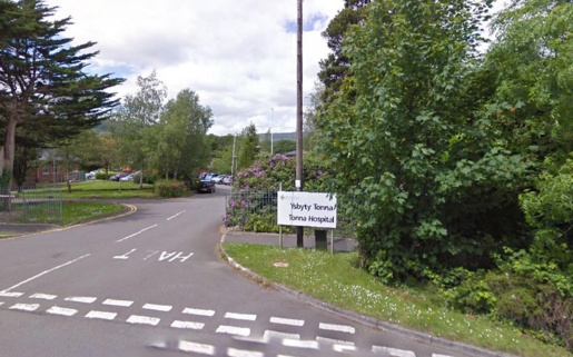 The road entrance leading up to Tonna Hospital.