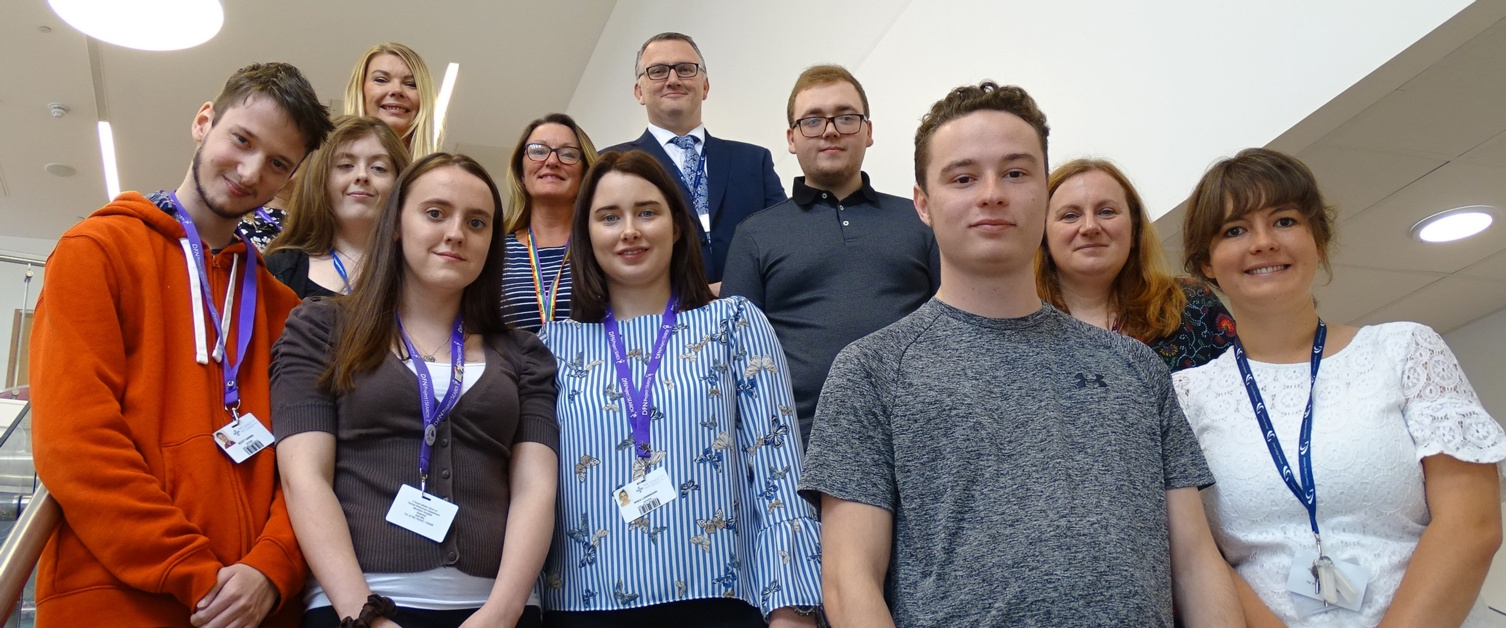 Image of six of the interns with the Project Search team