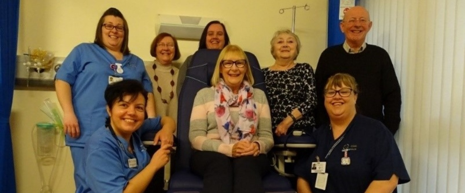 Members of National Rheumatoid Arthritis Society's (NRAS) Swansea Group and Rheumatology Day Unit staff
