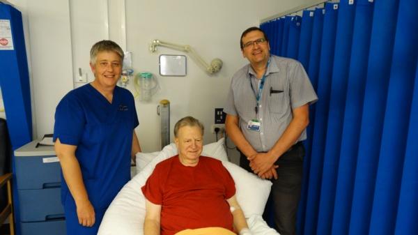 Karen Kembery, SBUHB Senior Tissue Viability Nurse, Jonathan Webb
