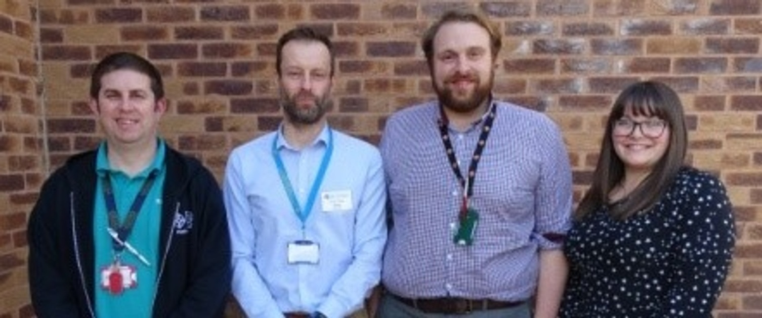 Team of ABMU pharmacists highlighting clot risks in cancer patients