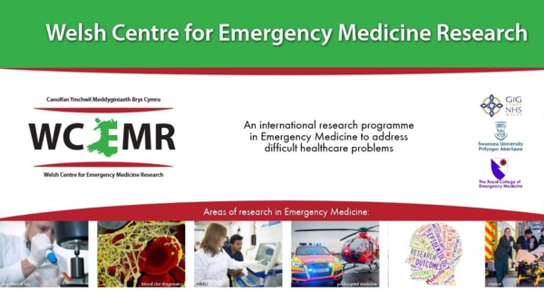A poster for the Welsh Centre for Emergency Medical Research