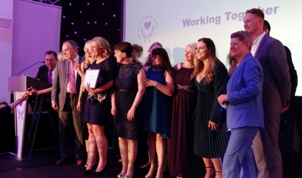 The Neuro Rehab Team received the Working Together Award