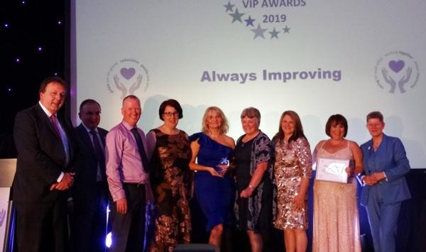 Gorseinon Hospital staff received the Always Improving award
