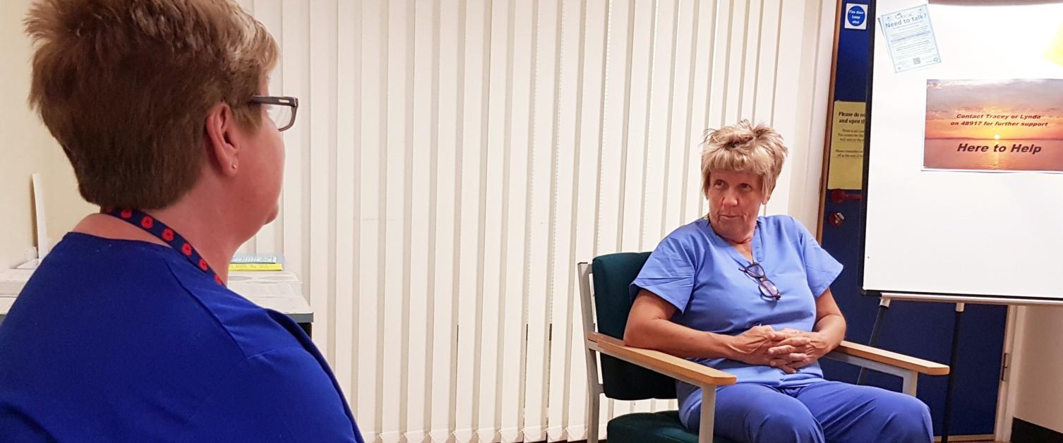 Neath Port Talbot Hospital counsellor Lynda Mizen