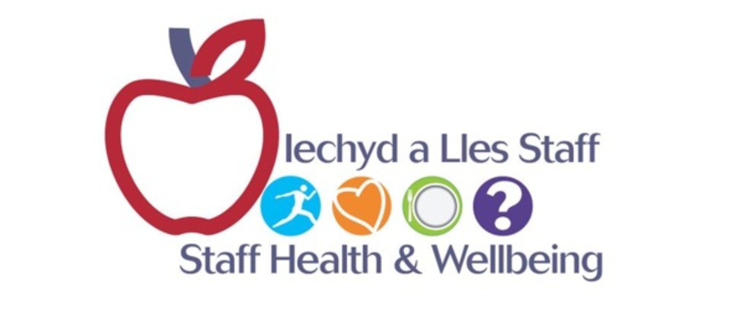 Y logo ar gyfer Gwasanaeth Iechyd a Lles Staff