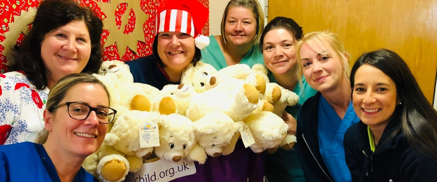 Staff with WellChild bears