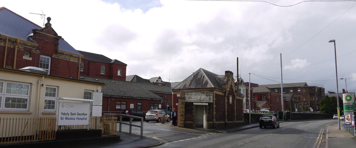 St Woolos Hospital outside