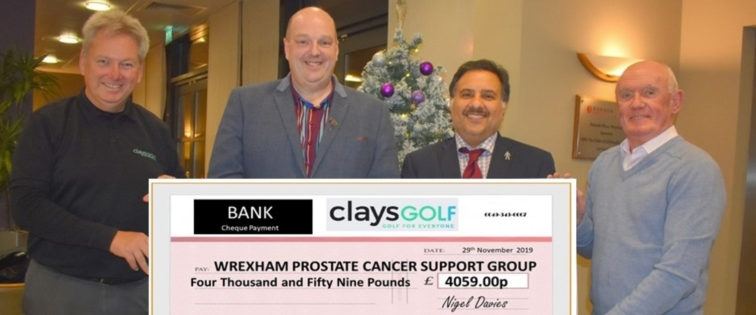 Wrexham fundraisers get into the swing of things to support prostate cancer services