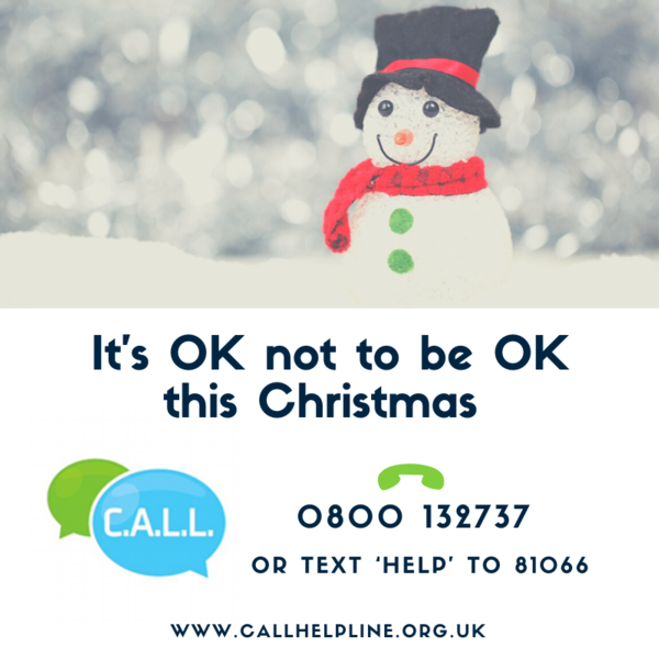 It's OK not to be OK this Christmas 2019