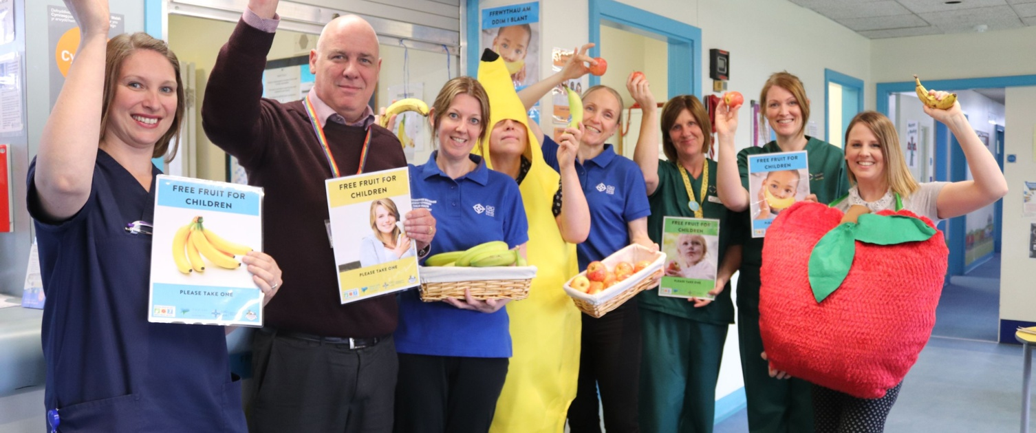 Free fruit for kids in Wrexham Maelor Hospital to encourage healthy eating