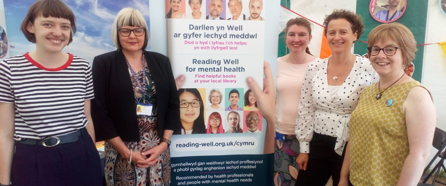The Reading Agency celebrates mental health and wellbeing scheme at the National Eisteddfod in Llanrwst