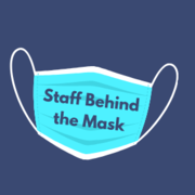 An image of a disposable face mask with the words