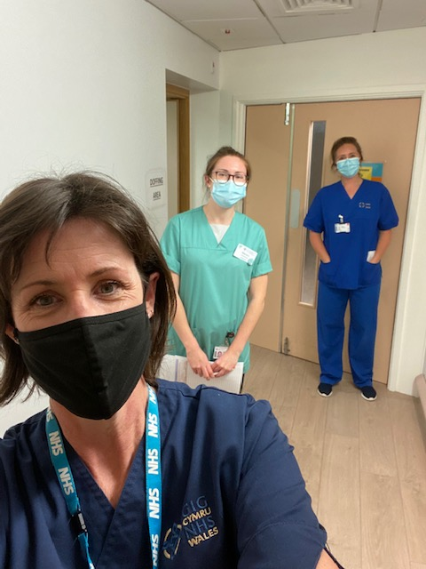 Members of the team implementing the RECOVERY trial at University Hospital Llandough