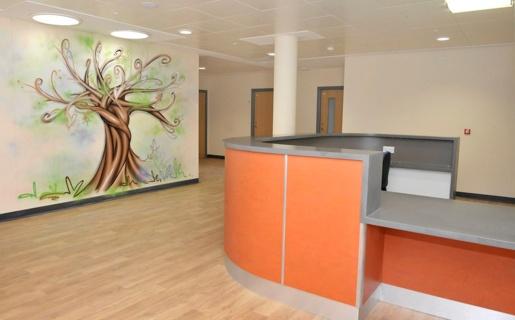 Reception desk in Hafan Y Coed