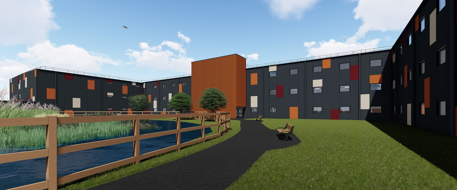 An artist impression of the UHW Lakeside Wing
