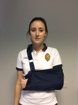 Example of a broad arm fit sling