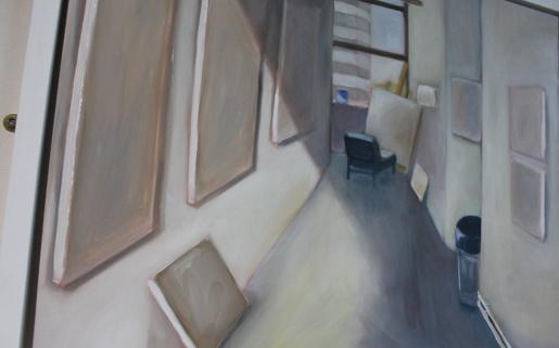 Painting of a corridor