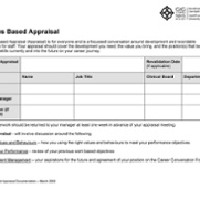 The Values Based Appraisal Recording Document