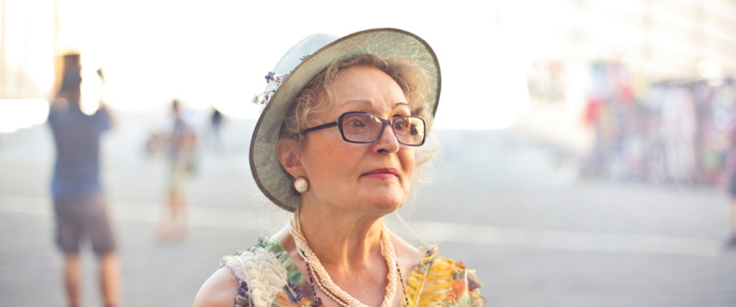 Older lady in hat