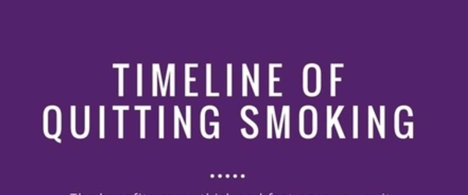 Timeline of quitting smoking