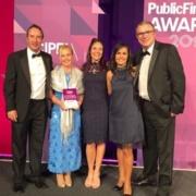 Finance Academy team at the Public Finance Awards