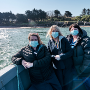 Nurses going to vaccinate at Caldey Island