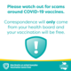 Decorative image - watch out for scams around COVID-19 vaccines